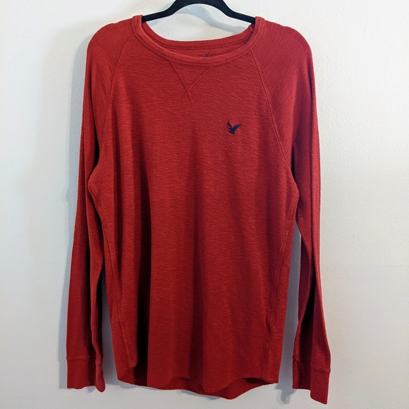 American Eagle Men's Red Heritage Thermal Large